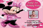 Personalised Pink Minnie Mouse Photo Invitations